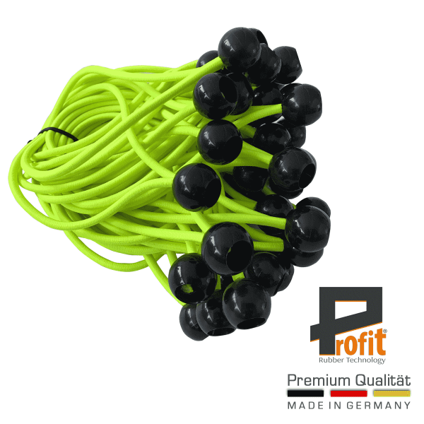 Expander loops with ball 200mm neon yellow | Expander loops | Tent rubbers |