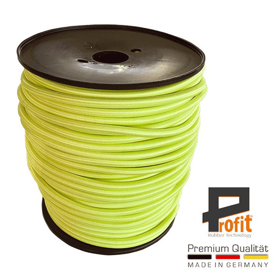 Expander rope neon yellow 8mm on 100 meter roll
