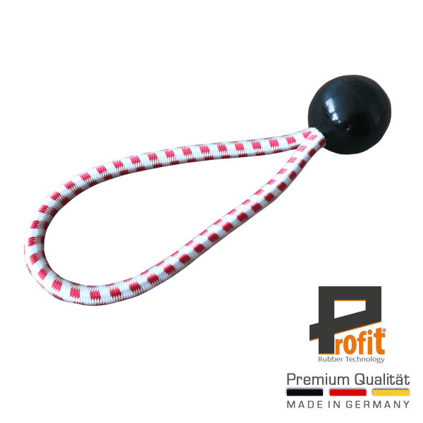 Expander rubber with ball black 180mm | Austria Edition | Tension loop | Expander loop | Profit Rubber Technology