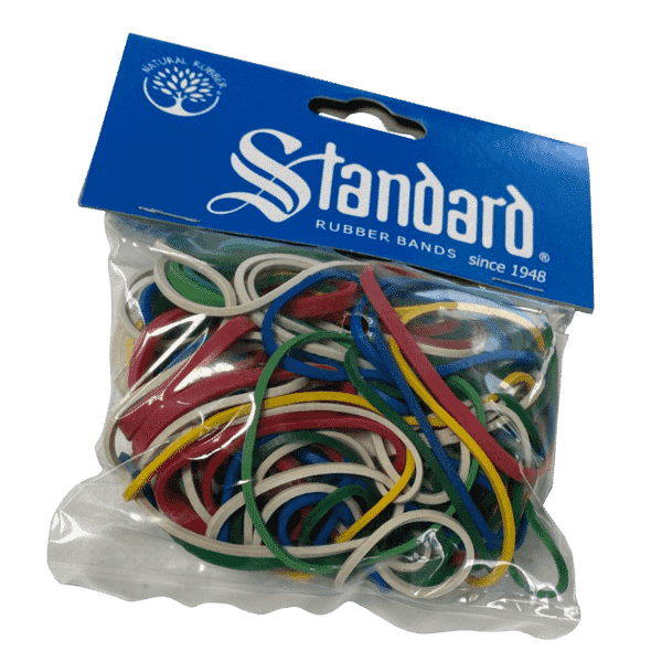 Rubber rings for household and office 50 gram different colors