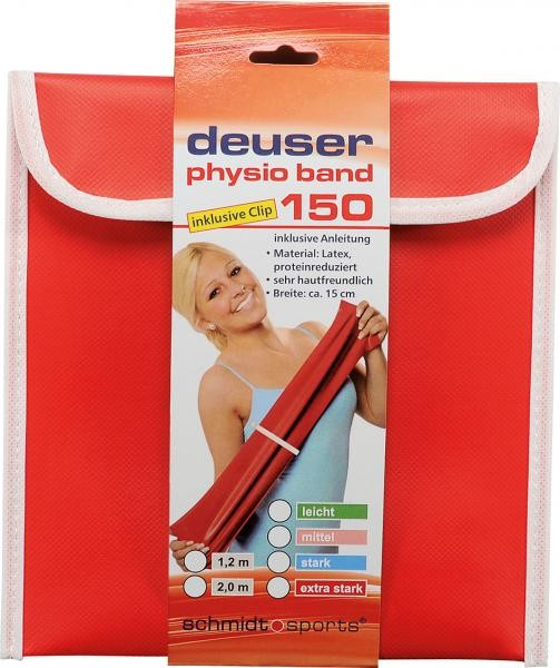 Deuser Physioband 150mm x 2,4m Red/Extra Strong