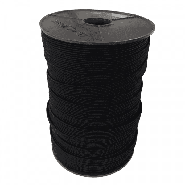 Flatband rubberband 11mm | 3mm | 100m on roll black Multiflex PP