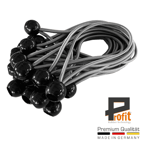 Profit | rubber cord | double hook | snap hook | tensioning ropes | expander | expander slings with ball | Spannfix |
