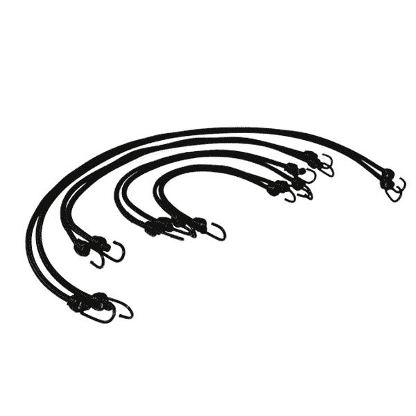 Spanngummi mit 2 Haken | Expanderseile mit 2 Spiralhaken | Set | Gummispanner | Gummi mit 2 Haken