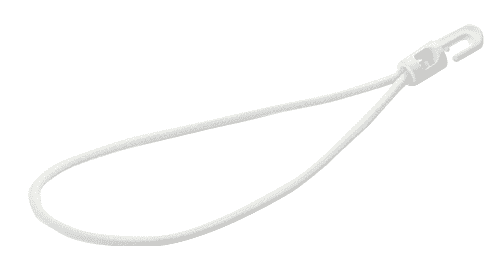 Tension rubber - white 250mm - expander sling with hook | expander sling with plastic hook